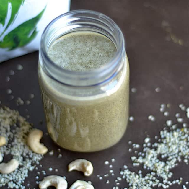 Cashew Hemp Protein Smoothie