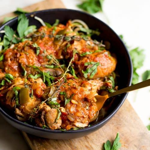 Slow Cooker Or Instant Pot Chicken Cacciatore Wholesomelicious