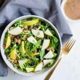 Shaved Brussels Sprout & Pear Salad