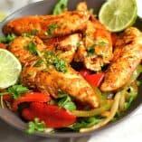 Sheet Pan Chipotle Cilantro Chicken Fajitas