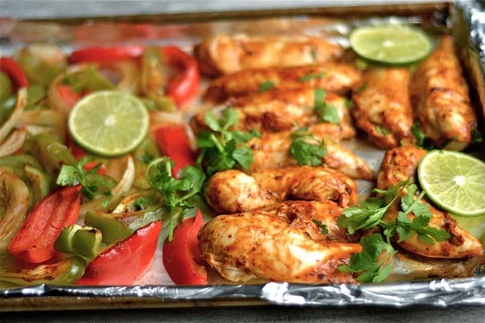 Sheet pan chipotle cilantro chicken fajitas wholesomelicious i cant remember the last time i made a meal that was labor intensive and took me longer than 30 minutes ive given them up my new years resolution is to forumfinder Choice Image
