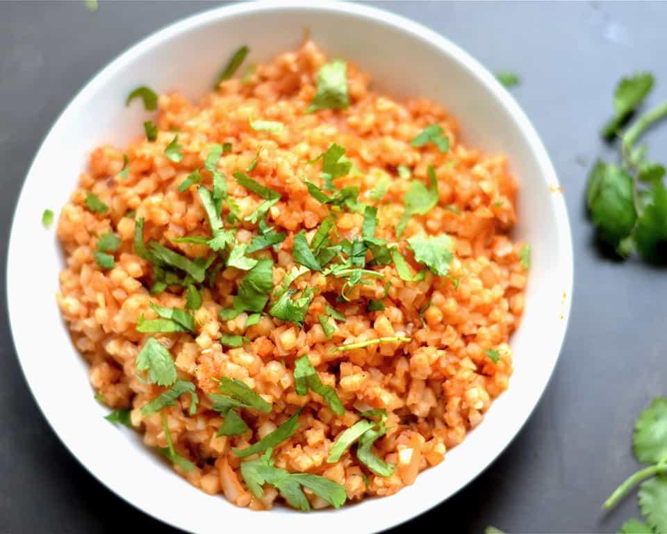 Cauliflower Spanish Rice Wholesomelicious