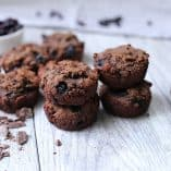 Chocolate Blueberry Muffins (Grain-Free, Paleo)