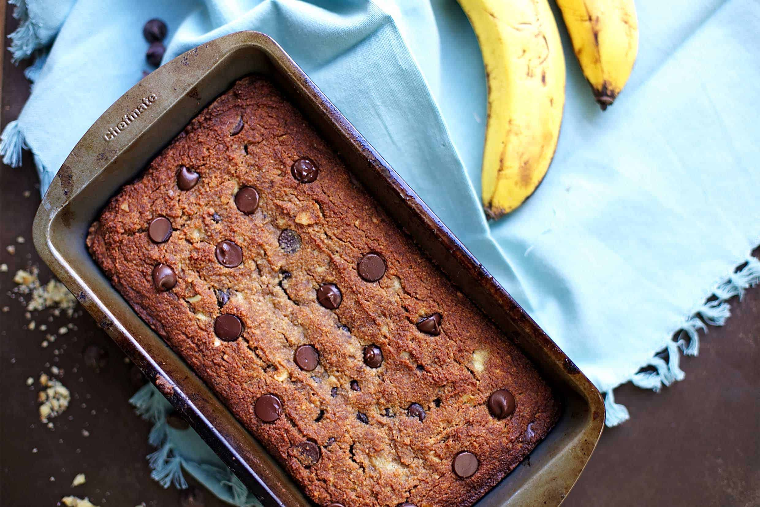Chocolate Chip Banana Bread (Paleo) - Wholesomelicious