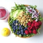 Superfood Salad with Blueberry Lemon Vinaigrette