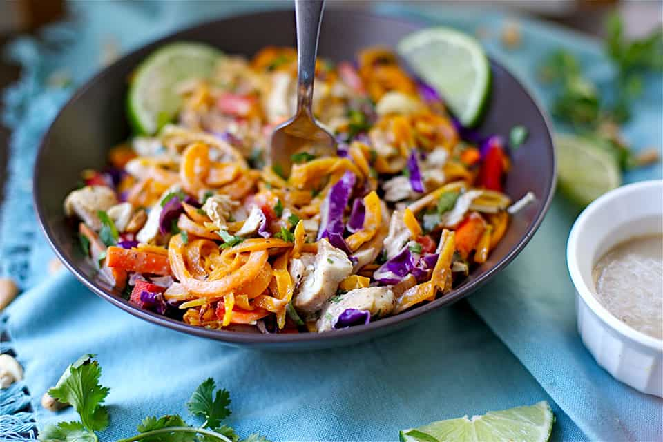 Paleo chicken pad thai wholesomelicious this kid friendly variation is not spicy but full of flavor youll love this for an easy and healthy weeknight dinner forumfinder Images