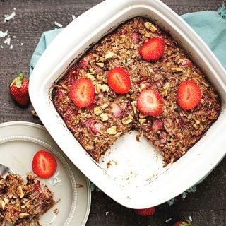Strawberry Coconut Breakfast Bake (Paleo, Whole30)