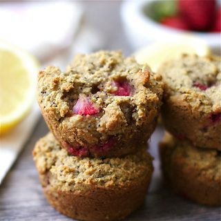 Strawberry Lemon Poppyseed Muffins (Grain-free)
