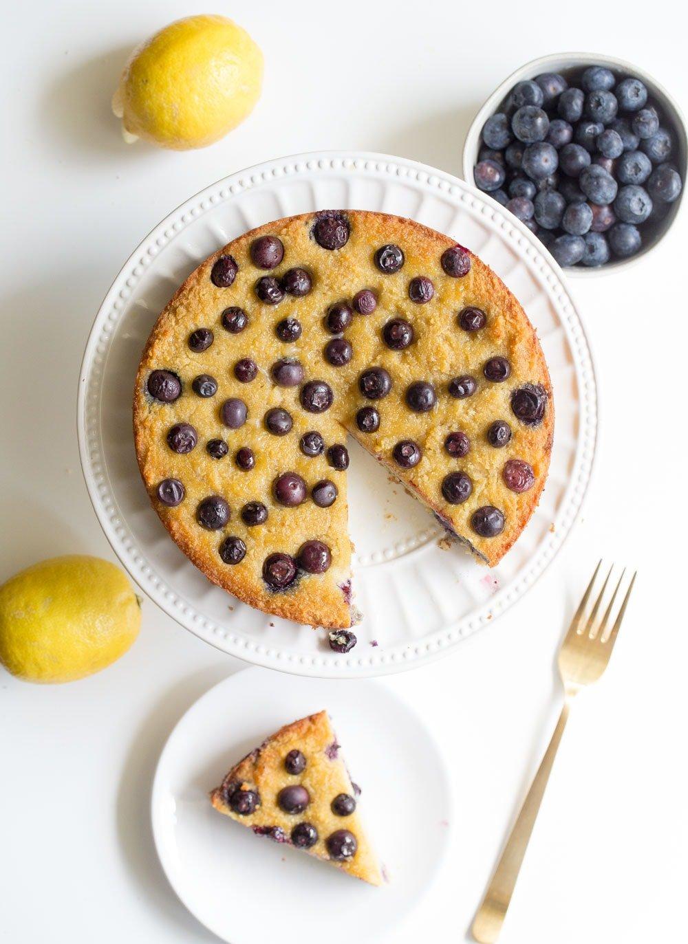 nlueberry lemon cake made on the paleo diet