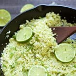 Cilantro Lime Cauliflower Rice + VIDEO