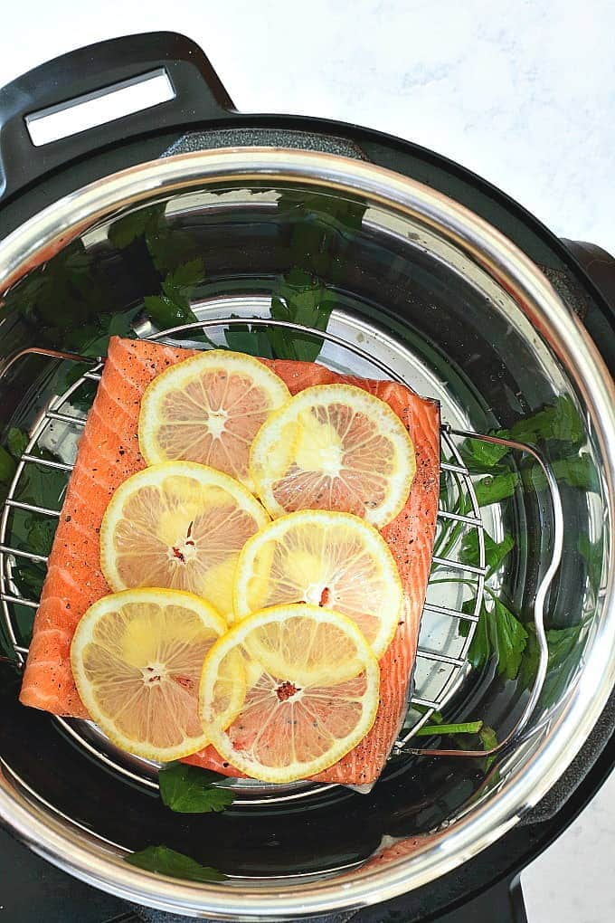 Instant pot lemon pepper salmon wholesomelicious for Instant pot fish recipes