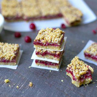 Paleo Raspberry Crumb Bars