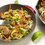 Thai Beef Drunken Zoodles