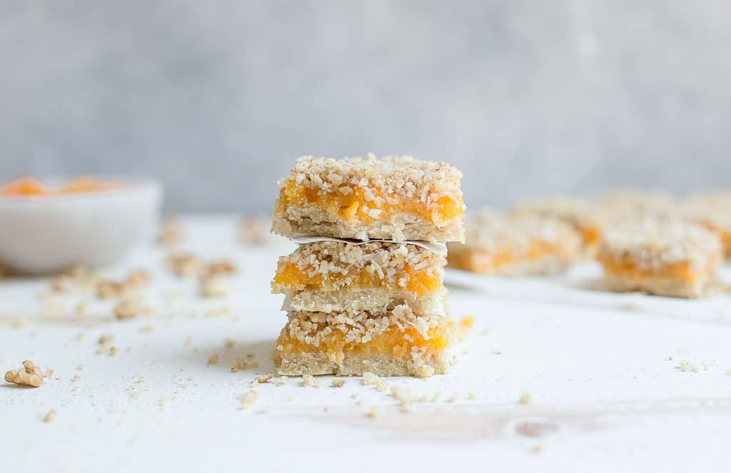 Apricot Bars (Paleo, Vegan) - Wholesomelicious