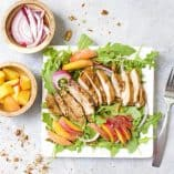 Grilled Chicken and Peach Salad with Maple Vinaigrette