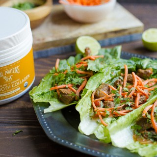 Slow Cooker or Instant Pot Thai Beef Lettuce Wraps (Paleo, Whole30) + VIDEO