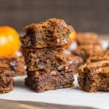 Paleo Pumpkin Chocolate Chip Blondies