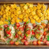 Sheet Pan Bruschetta Chicken