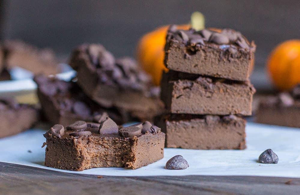 Pumpkin Flourless Brownies