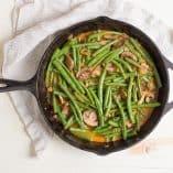 Paleo Spicy Green Bean & Mushroom Skillet