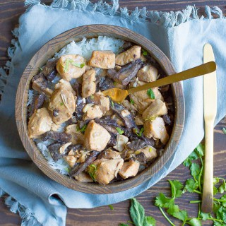 Slow Cooker or Instant Pot Chicken Mushroom Stroganoff (Paleo, Whole30)