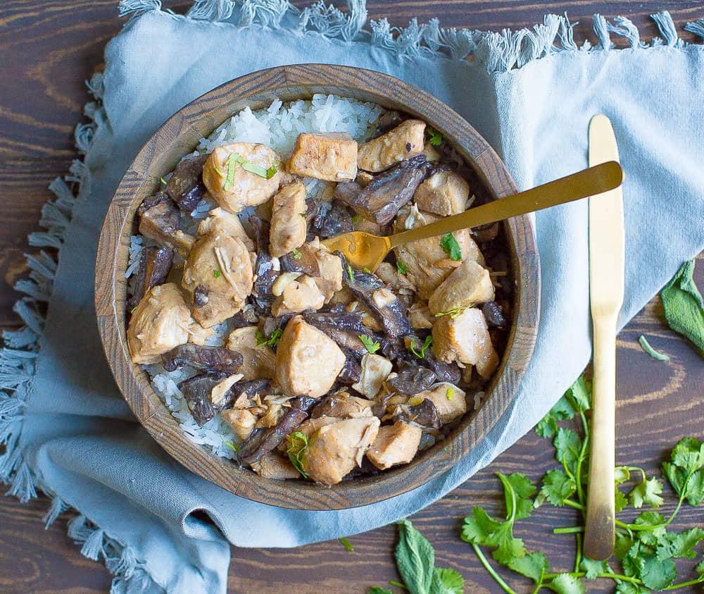 Slow Cooker Or Instant Pot Chicken Mushroom Stroganoff
