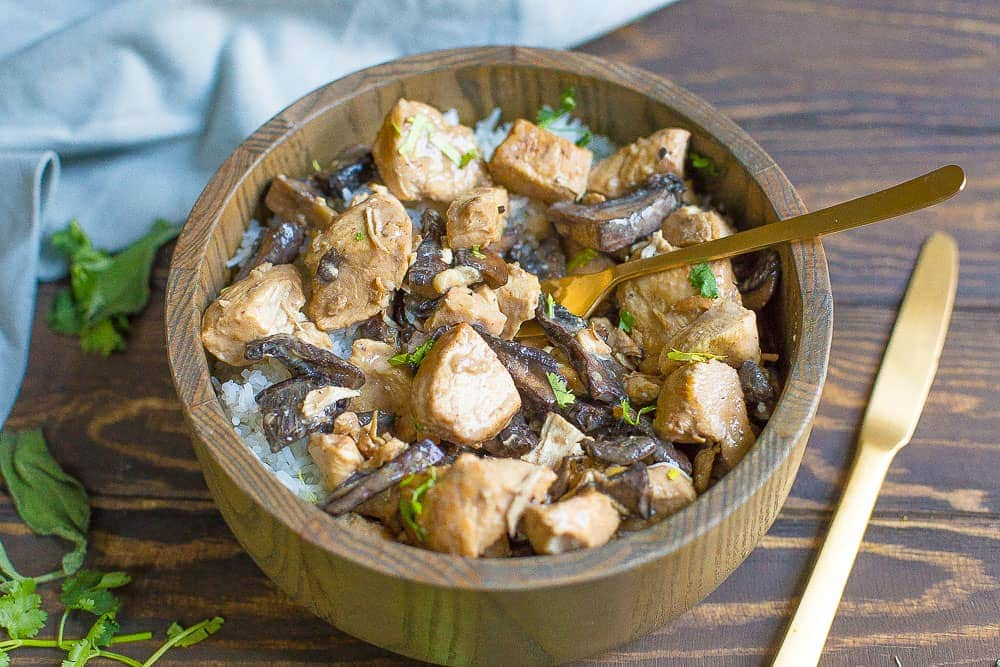 Slow Cooker Or Instant Pot Chicken Mushroom Stroganoff Paleo Whole30 Wholesomelicious
