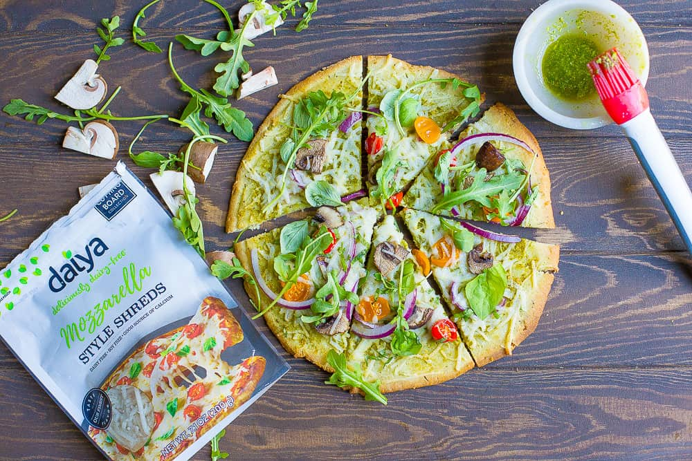 Vegan and paleo pesto veggie pizza wholesomelicious i couldnt let this important celebration go by without creating a delicious recipe for all of you pizza is a classic food that forumfinder Gallery