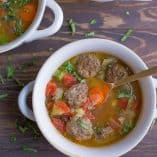 Meatball Minestrone Soup (Paleo, Whole30)