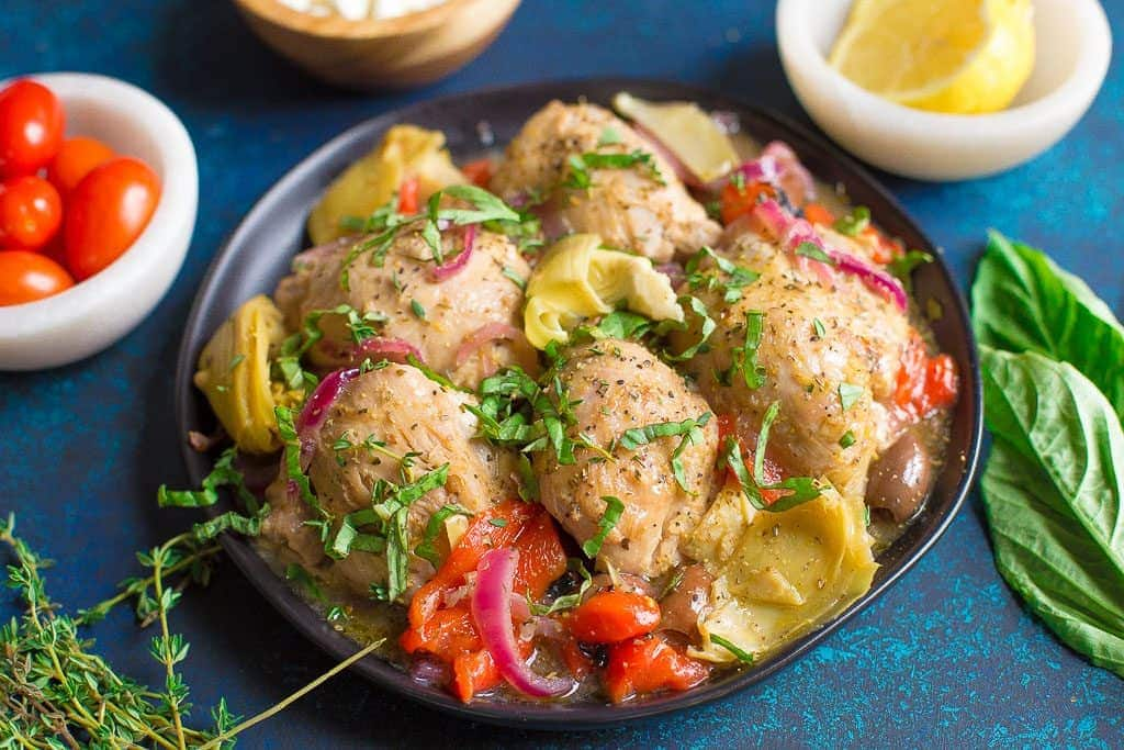 Slow Cooker Or Instant Pot Greek Chicken Wholesomelicious