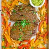 Sheet Pan Chipotle Steak Fajitas