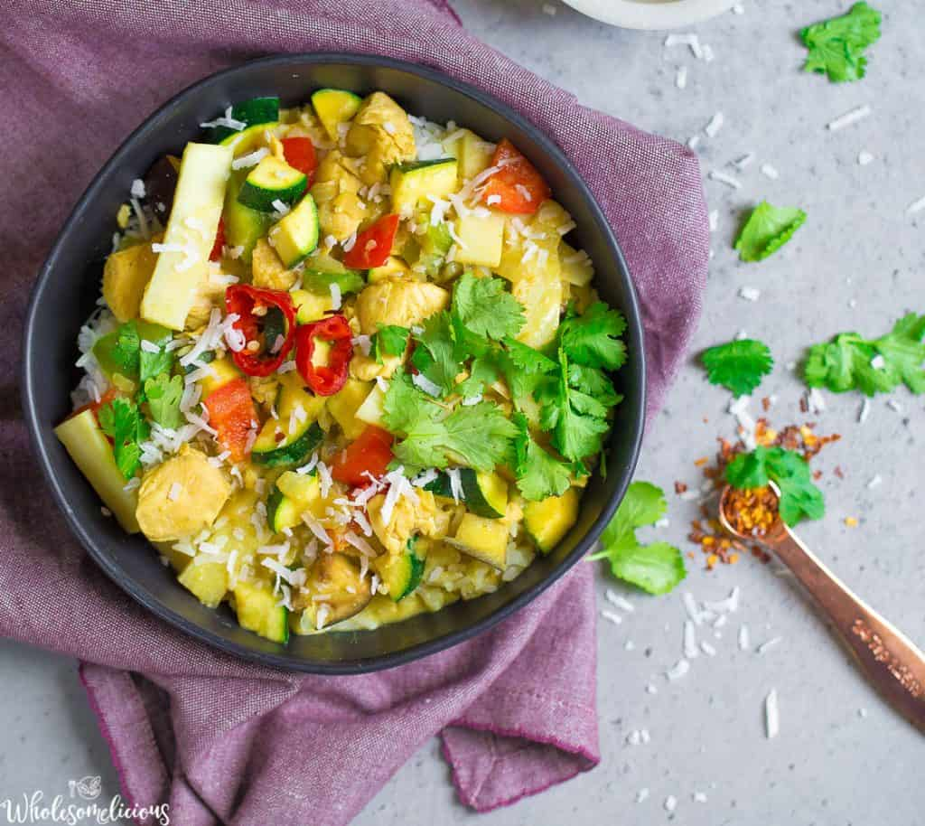Instant Pot Green Thai Coconut Chicken Curry
