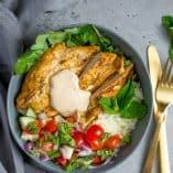 Grilled Chicken Shawarma Bowls