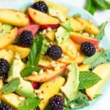 Peach, Avocado, and Blackberry Salad