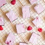 Raspberry Cheesecake Brownie Bars (No-Bake)