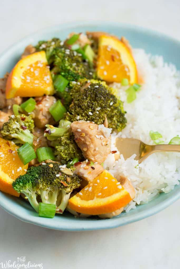Instant Pot Orange Chicken And Broccoli Wholesomelicious