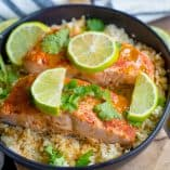 Instant Pot Chipotle Lime Salmon Bowls