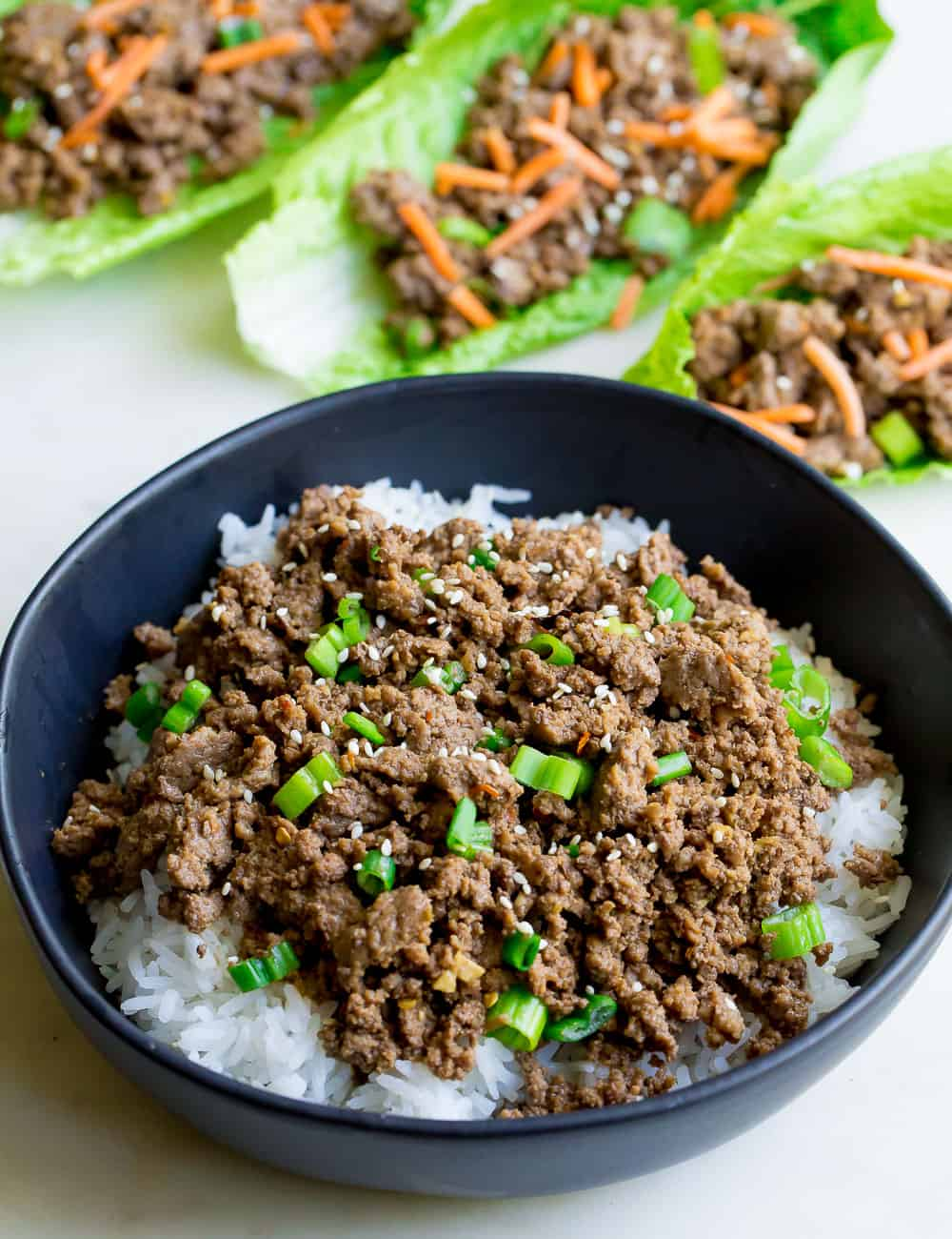 Korean Beef Bowls Wholesomelicious