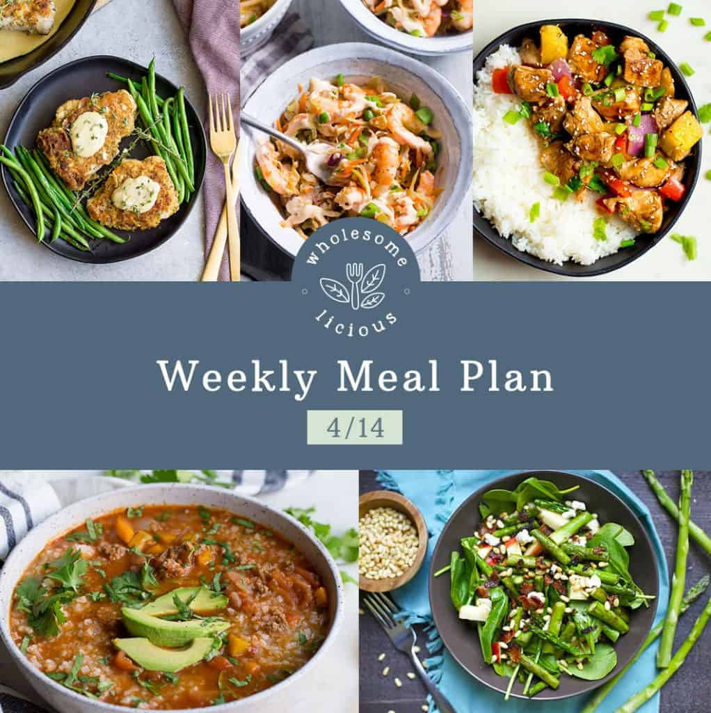 Weekly Meal Plan - Wholesomelicious