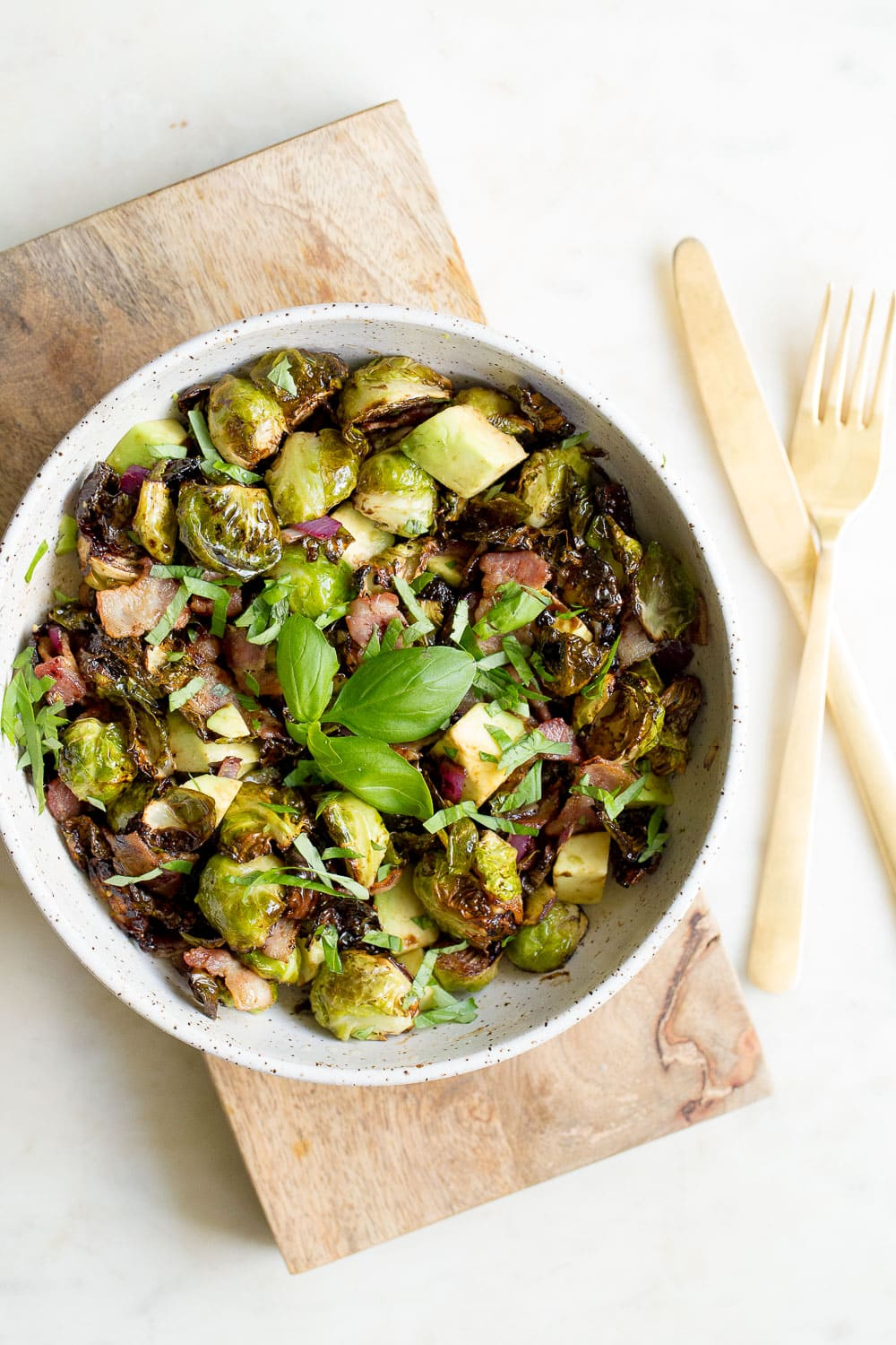 Air Fryer Brussels Sprouts And Bacon Wholesomelicious