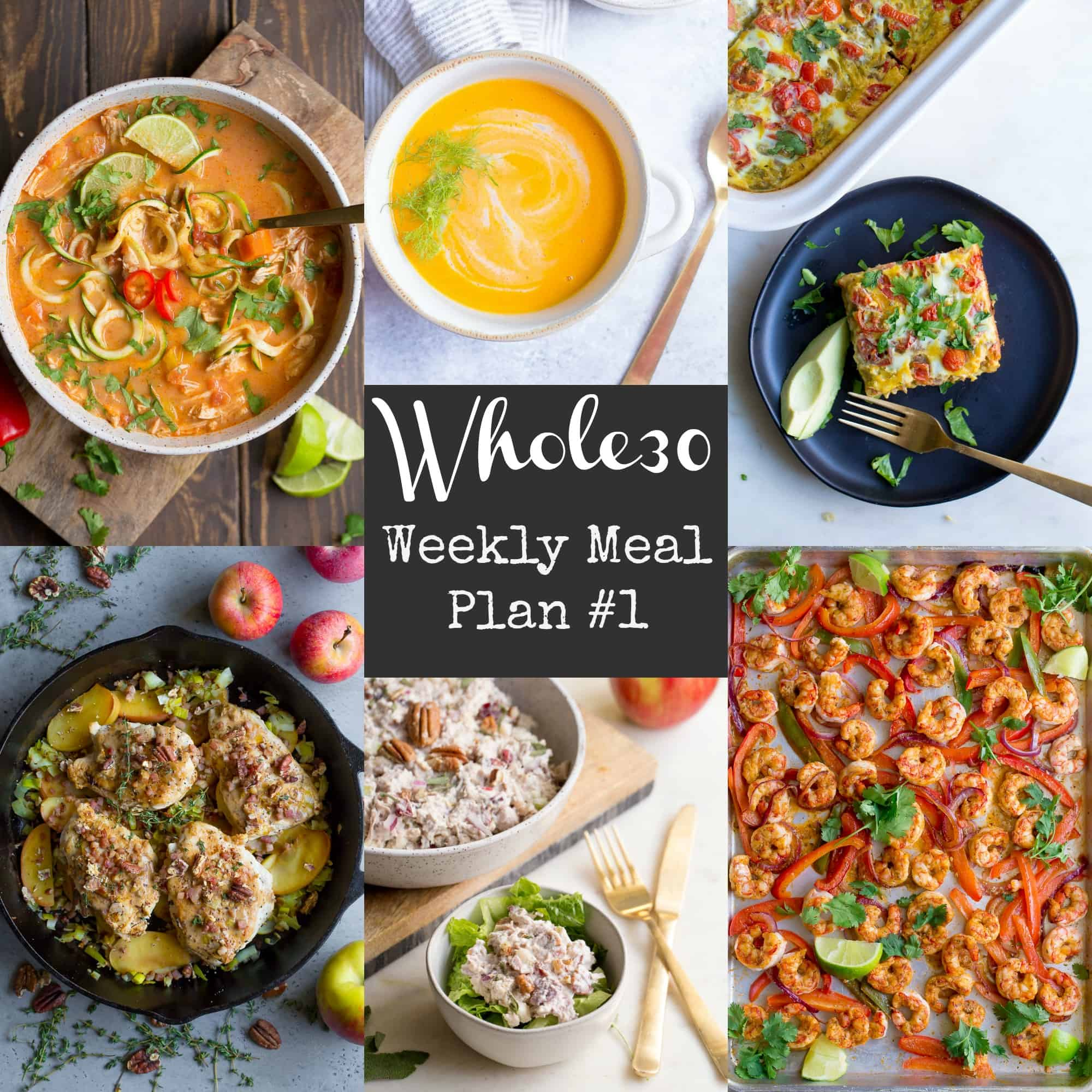 whole30 meal plan   grocery list week 1