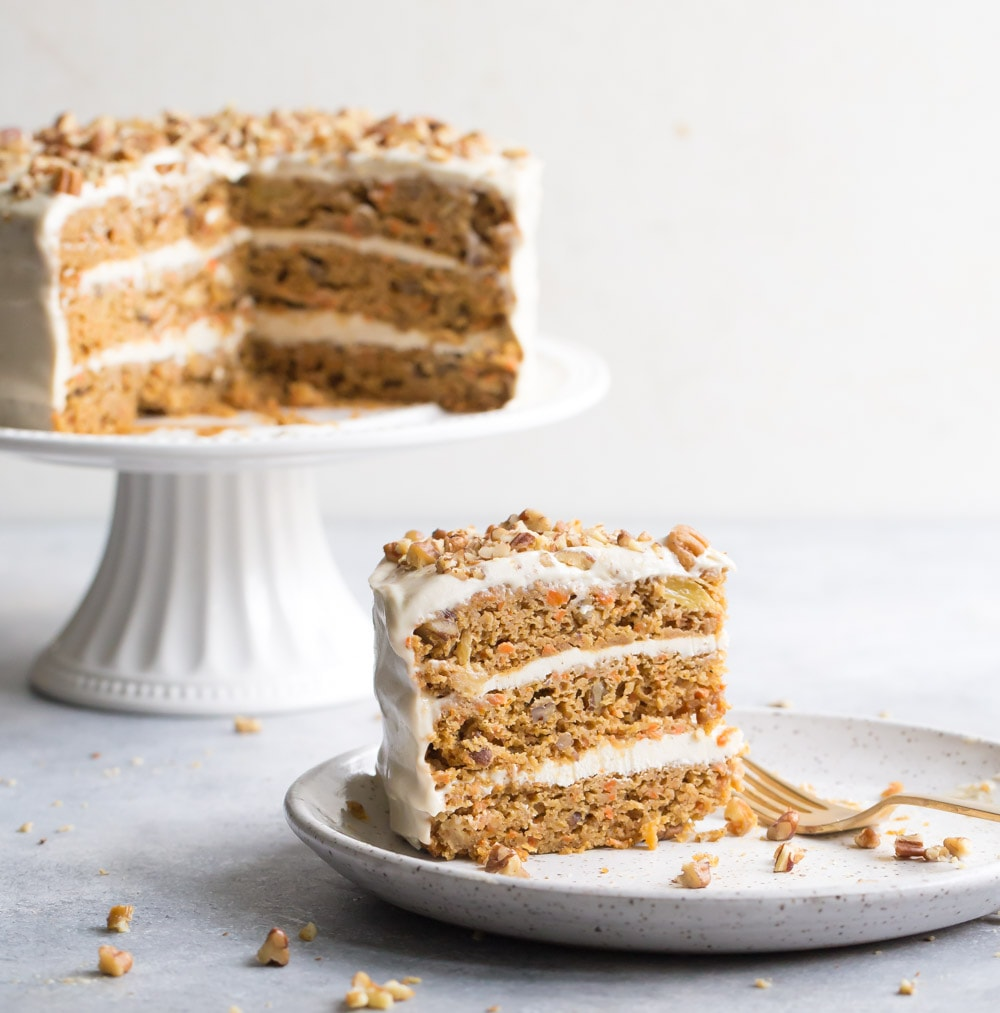Strange Paleo Carrot Cake With Cream Cheese Frosting Wholesomelicious Personalised Birthday Cards Bromeletsinfo